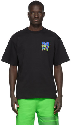 GCDS Black Flames Logo T-Shirt