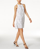 Alfani Pleat-Neck Dress, Only at Macy's