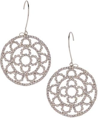 Area Crystal Cupchain Crochet Earrings in Silver & Clear Crystal | FWRD
