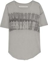 Raquel Allegra Tie-dyed Cotton-blend Jersey T-shirt - Gray
