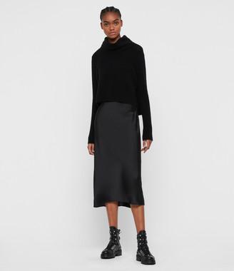 AllSaints Tierny Roll Neck 2-in-1 Dress