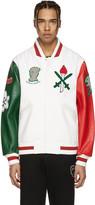 Opening Ceremony White Italy Global Varsity Jacket