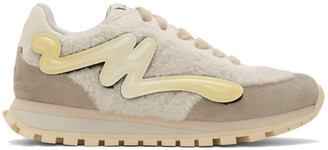 Marc Jacobs Off-White Shearling The Jogger Sneakers