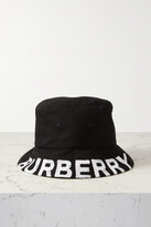 Thumbnail for your product : Burberry Reversible Printed Checked Cotton-twill Bucket Hat - Black