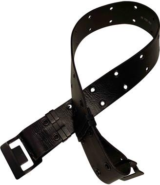 Plein Sud Jeans Black Leather Belts