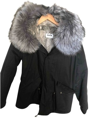 Ducie Black Cotton Jacket for Women