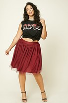 Forever 21 FOREVER 21+ Plus Size Pleated Tulle Skirt