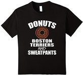 Kids FUNNY DONUTS BOSTON TERRIERS SWEATPANTS T-SHIRT Dog Lovers 6