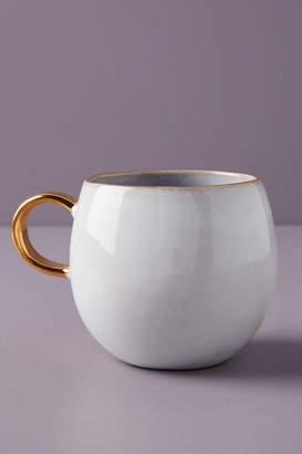 Anthropologie Gilded Lilac Mug