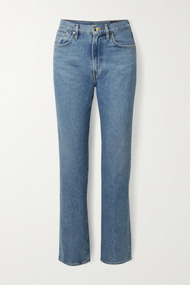 Gold Sign Net Sustain Nineties Classic High-rise Straight-leg Jeans - Mid denim