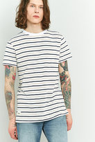 Wemoto Cope White And Peach Striped T-shirt