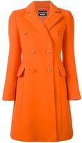 Moschino long double-breasted coat - women - Virgin Wool/other fibers/Rayon/Acetate - 38