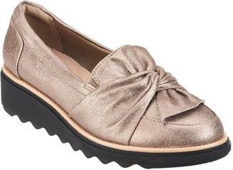 Clarks Collection Suede Slip-On Loafer - Sharon Dasher