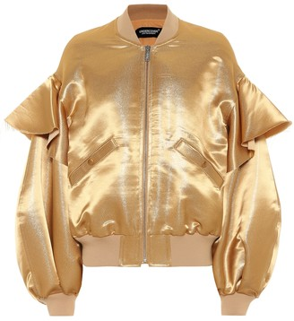 Undercover Metallic satin bomber jacket