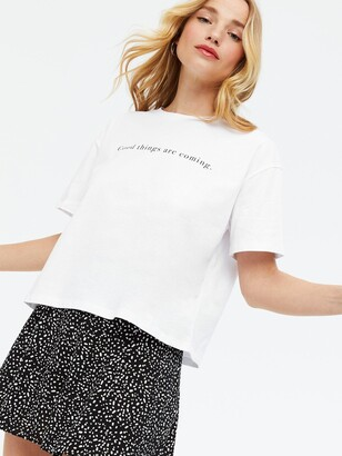 New Look Good Things Are Coming Boxy Tee