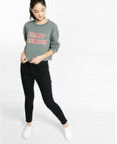 Express one eleven heart breaker cropped sweatshirt