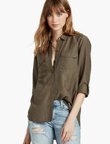 Lucky Brand Washed Silk Button Down Shirt