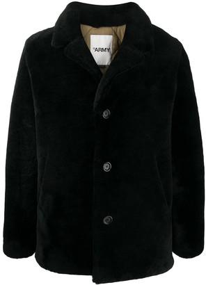 Yves Salomon Long-Sleeve Fur Coat