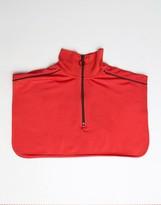 Asos High Neck Zip Through Collar In Red