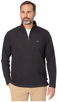Tommy Bahama Emfielder 2.0 1/2 Zip (Black) Men's Clothing