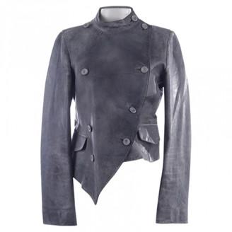 Alexander McQueen Grey Leather Jackets