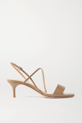 Alexandre Birman Veronica Leather Sandals - Mushroom