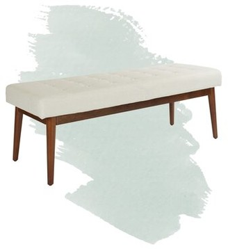 "Foundstoneâ""¢ Kathryn Upholstered Bench Foundstonea Upholstery: Linen"