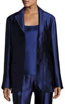 The Row Posner Three-Button Blazer Jacket