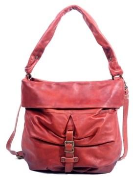 Old Trend Sweet Lotus Leather Bucket Bag