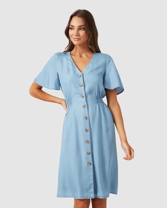 French Connection Button Through Midi Dress