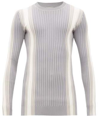 Eytys Incubus Striped Ribbed Sweater - Mens - Grey White
