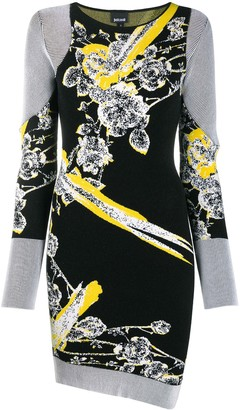 Just Cavalli Floral Motif Knitted Dress