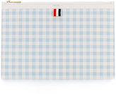 Thom Browne check clutch bag - women - Calf Leather - One Size