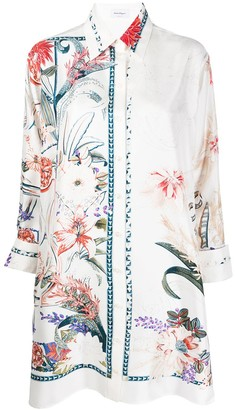 Salvatore Ferragamo Floral Print Tunic Shirt