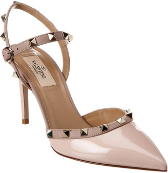 Valentino Rockstud 85 Patent & Leather Pump