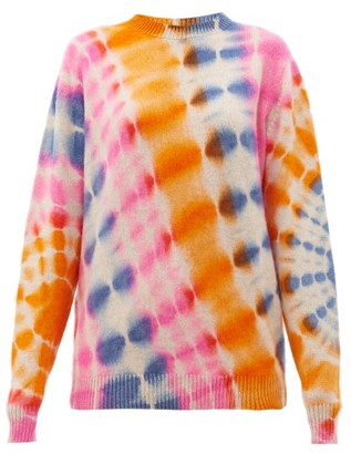 The Elder Statesman Tie-dye Cashmere Sweater - Pink Multi