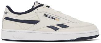 Reebok Classics Off-White and Navy Club C Revenge Sneakers