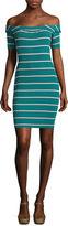 Decree Rib Off Shoulder Bodycon Dress - Juniors