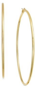 Essentials Extra Large Gold Plated Wire Tube Large Hoop Earrings