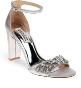Badgley Mischka Barby Embellished Ankle Strap High Heel Sandals