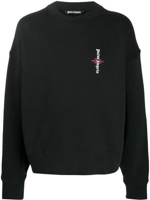 Palm Angels Logo-Print Drop-Shoulder Sweatshirt