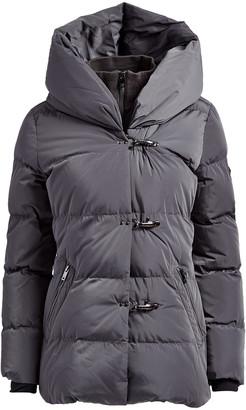 DKNY Women's Puffer Coats CHA:CHARCOAL - Charcoal Toggle-Front Hooded Puffer Coat - Women & Petite