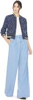 Alice + Olivia Lonnie Embellished Cropped Bomber Jacket