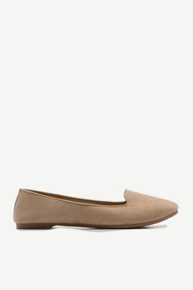 Ardene Basic Faux Suede Flats - Shoes |