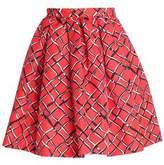 MSGM Printed Twill Mini Skirt
