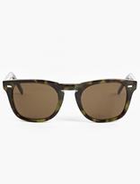 Cutler and Gross Green '1032' Acetate Sunglasses