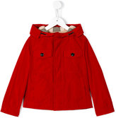 Burberry hooded jacket - kids - Cotton/Polyester - 4 yrs