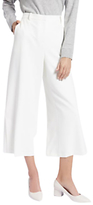 Jaeger Cropped Wide Leg Trousers, Ivory