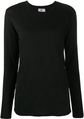Closed Long-Sleeved Jersey Knit Top