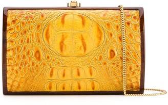 Rocio Milla crocodile-effect clutch bag